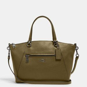 Coach Prairie Pebbled Leather Satchel NWT